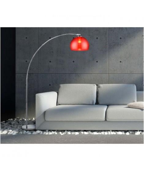 DESI lampadaire ARC Rouge hauteur 166cm