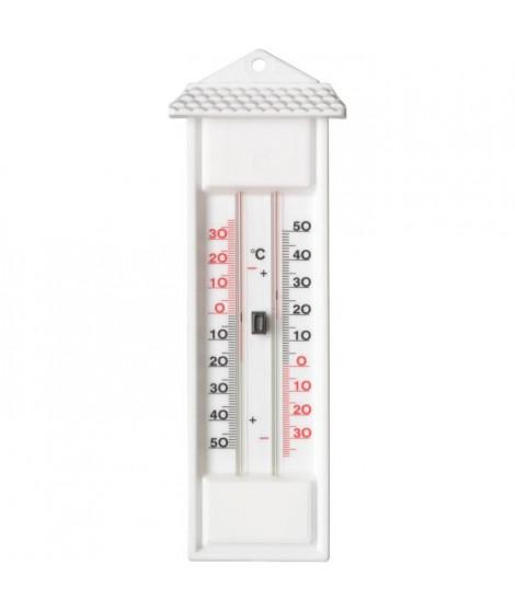 NATURE Thermometre MIN-MAX mural d'extérieur en plastique blanc