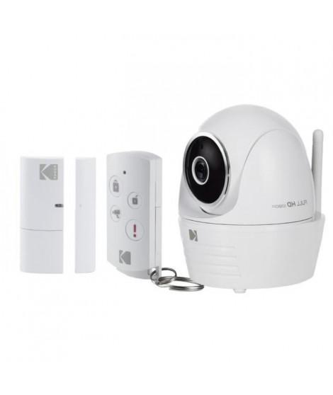 KODAK Caméra de surveillance Full HD motorisée avec alarme IP101WG Starter Kit