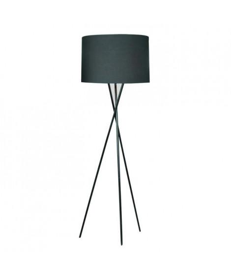 Lampadaire MIKADO Noir a Trépied, hauteur 160cm
