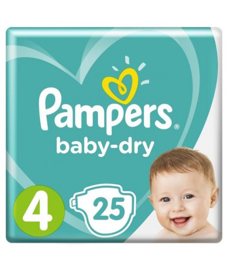 PAMPERS Baby-Dry Taille 4  8-16 kg x25 couches
