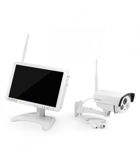 """TECHNAXX Premium Security Kit de surveillance avec caméra IP extérieur et moniteur 10,1"""" TX-29"""