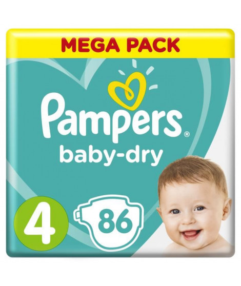 PAMPERS Baby-Dry Taille 4  8-16 kg x86 couches