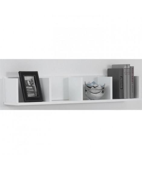 POINT Étagere murale - 92 x 16,5 x 17 cm - Blanc