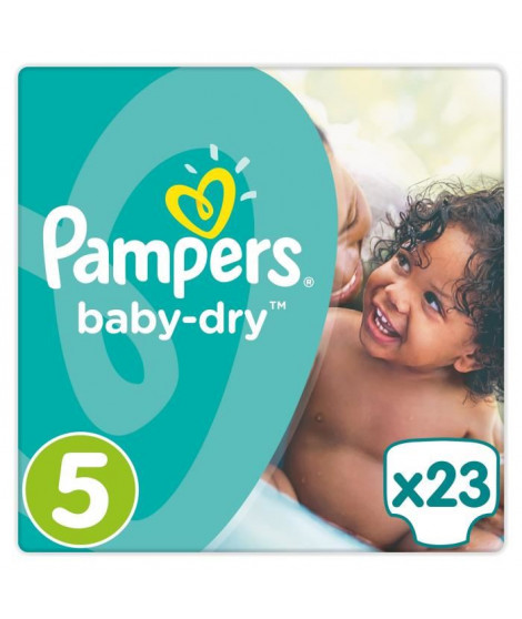 PAMPERS Baby-Dry Taille 5 11-23 kg x23 couches