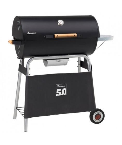 LANDMANN Barbecue a charbon Black Taurus 660 Expert - Fonte émaillée -