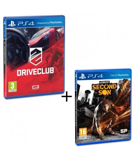 Pack Drive Club + Infamous Second Son Jeux PS4