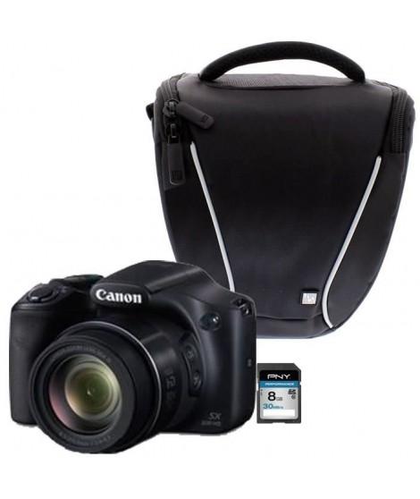 Canon PowerShot SX530 HS Bridge Noir + Sacoche + Carte 8 Go