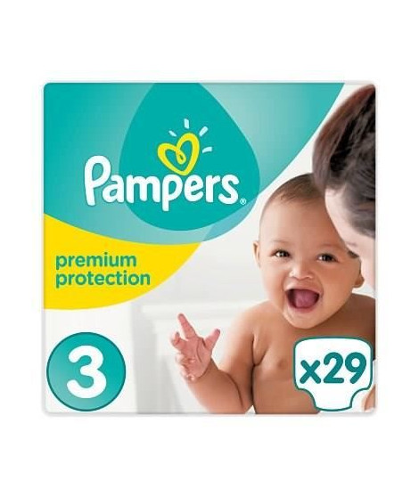 PAMPERS Premium Protection T3 5-9 kg x29 couches
