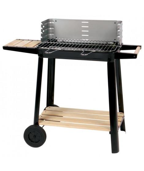 CALABRIA Barbecue a charbon - Acier chromé - 84,5x42x78,5 cm