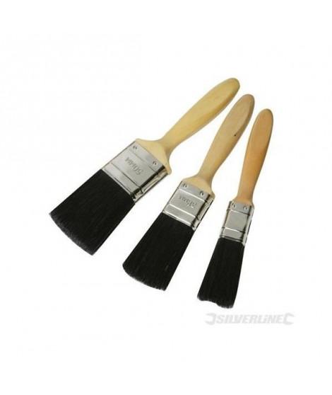 SILVERLINE Lot de 3 pinceaux qualité Premium - 25, 40 et 50 mm