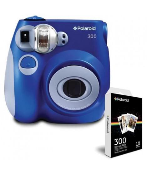 Pack POLAROID PIC300 Bleu Appareil photo instantané compact + POLAROID POLPIF300 10 feuilles pour appareil photo instantané