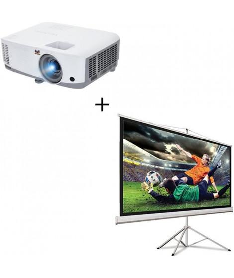 """Pack VIEWSONIC PA503W Vidéoprojecteur HD 720p + Écran de projection 100"""""""