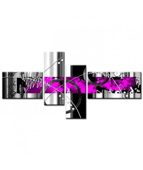 FEU Tableau Multi Panneaux  abstrait 140x70 cm violet