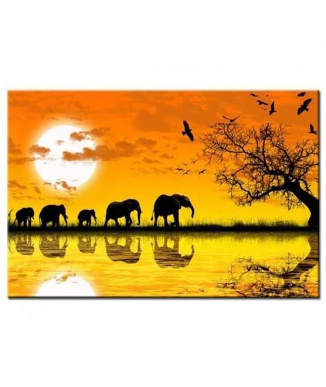 ELEPHANTS Tableau déco 80x50cm