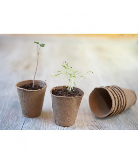 Lot de 54 pots en tourbe ronds H8,5 x diam 8 cm - 18 x 3