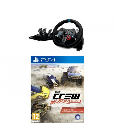 Pack Volant G29 + The Crew Wild Run Jeu PS4