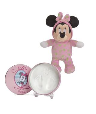Coffret de naissance Minnie : boîte empreinte + minni peluche 25 cm - Disney Baby
