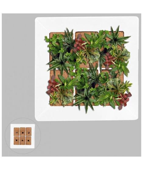 Mur végétal en métal 37x37cm - Blanc