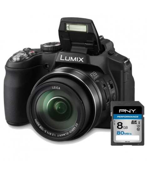 PANASONIC DMC-FZ200EFK Appareil photo numérique Bridge + Carte 8Go
