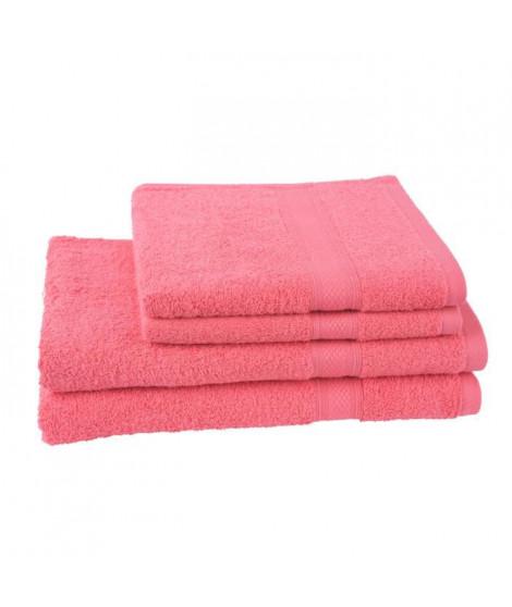 JULES CLARYSSE Lot de 2 serviettes 50x100 cm + 2 draps de bain 70x140 cm ELEGANCE gauloise