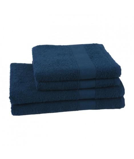 JULES CLARYSSE Lot de 2 serviettes + 2 draps de bain Viva - Bleu Marine