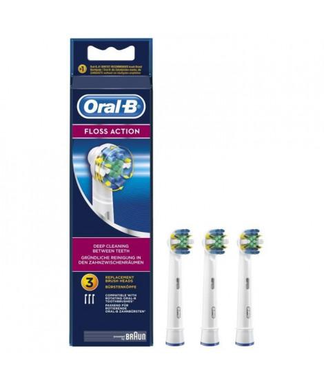 ORAL-B - FlossAction EB25 Pack de 3 - Brossettes p