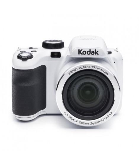 """KODAK AZ421 Appareil photo numérique - Zoom optique 42x - Grand angle 24 mm - Ecran 3"""" LCD - 16 MP - Blanc"""