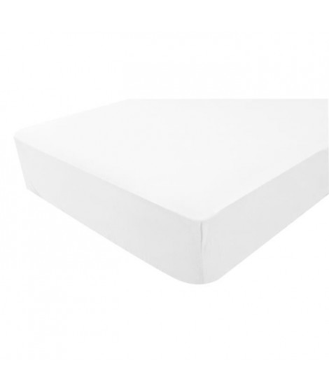 Drap Housse Jersey 60X120 cm Blanc