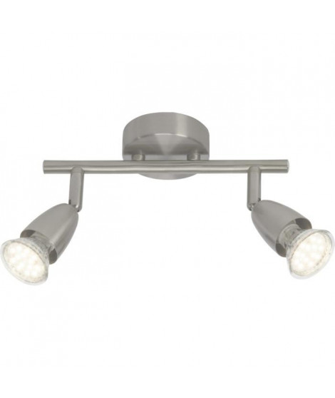 BRILLIANT Plafonnier led a 2 lumieres Amalfi - Chrome