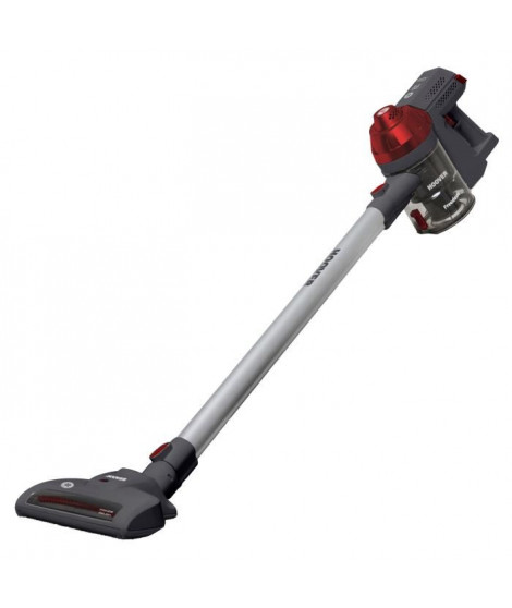 HOOVER FD22RP Aspirateur balai et a main Pet & Allergy Freedom ? 22V ? 700 ML ? Argent rouge