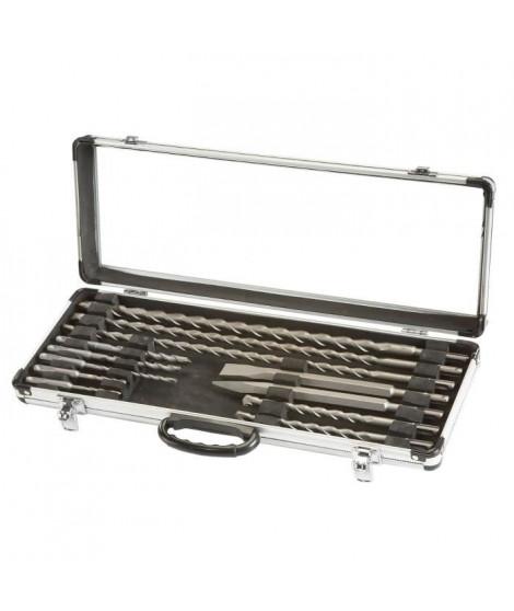 EINHELL Coffret aluminium de 12 forets et burins SDS pour marteau perforateur