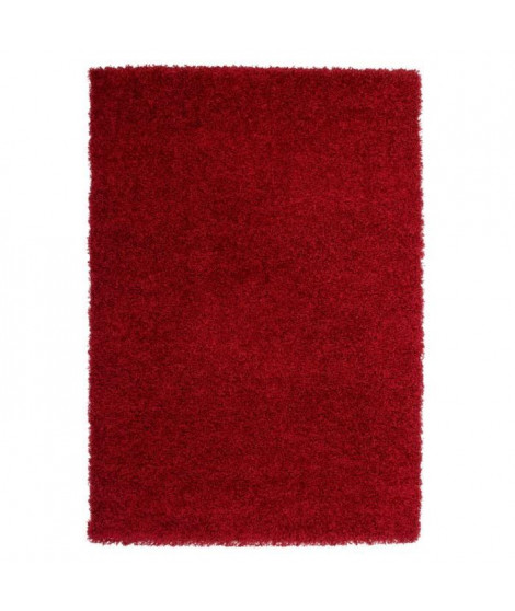 TRENDY Tapis Shaggy rouge 120 x 160 cm