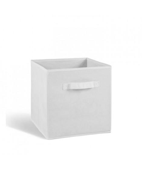 COMPO Tiroir de rangement tissu blanc 27x27x28 cm