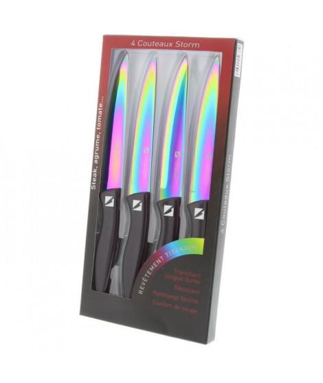 ALBERT DE THIERS Coffret de 4 couteaux a steak noir STORM