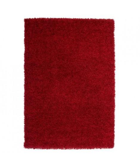 TRENDY Tapis Shaggy rouge 80 x 140 cm
