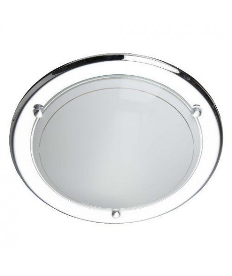 BRILLANT Applique/Plafonnier Miramar diametre 28,5 cm E27 42W chrome