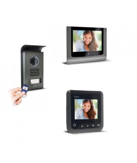 """EXTEL Visiophone Levo Access 2 fils avec 2 écrans couleur 7"""" avec contrôle d'acces RFID"""