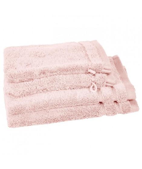 VENT DU SUD Lot 2 serviettes invité 30x50 cm + 2 gants Callisto - Nacre