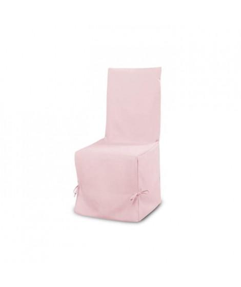 SOLEIL D'OCRE Housse de chaise en coton Panama - Rose