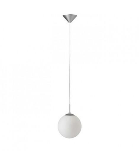 BRILLANT Suspension boule Fantasia E27 60 W 20 cm argent et blanc