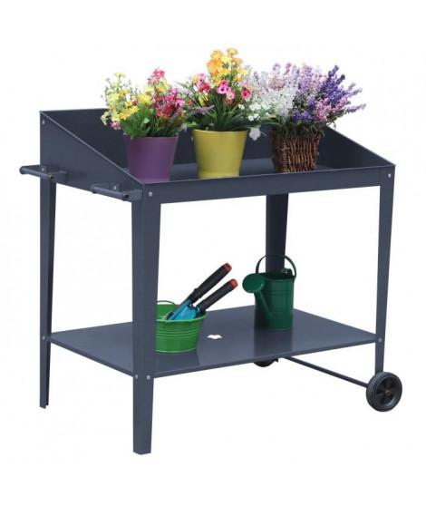 Pot de fleur en métal - Vertical Planter Kits - 90x55x90cm - Gris