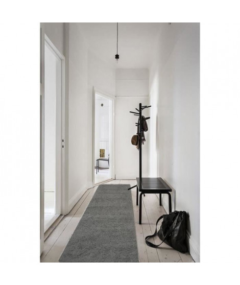 TRENDY Tapis de couloir Shaggy anthracite 80x300cm