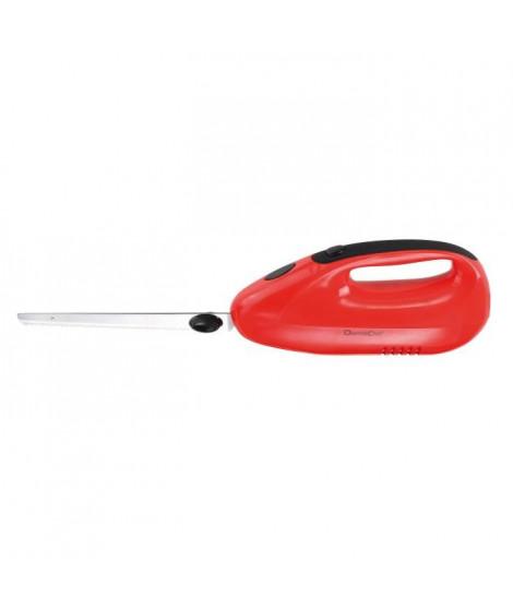 DOMOCLIP DOM360R Couteau électrique ? 150W ? 2 jeux de lames de 20 cm - Rouge