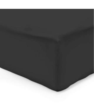 VISION Drap housse 200x200 + 25 cm noir