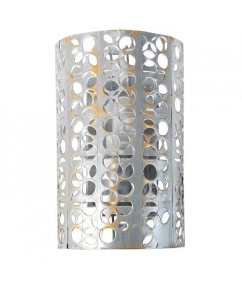 Applique métal perfore, forme cylindrique