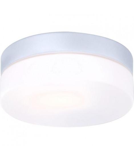 GLOBO LIGHTING Luminaire extérieur (fix. Plafond) aluminium gris métallisé - Verre opal