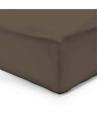 VISION Drap housse 180x200 + 25 cm chocolat