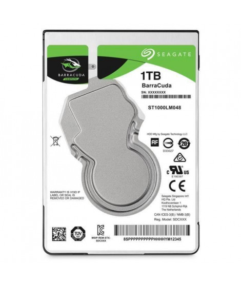 """Seagate Mobile HDD BarraCuda 1To - 2,5"""" - ST1000LM048"""