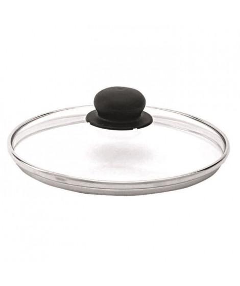 BEKA Couvercle performance verre bord inox 24 cm